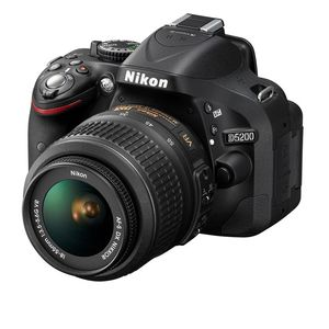 Nikon D5200 Black DSLR Camera Body and 18-55mm VR Lens Kit