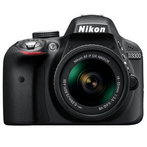 Nikon D3300 Black DSLR Camera with 18-55mm G AF-P VR Lens