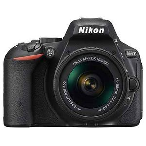 Nikon D5500 Digital SLR Black Camera with 18-55mm G AF-P VR Lens
