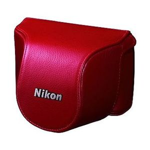 Nikon CB-N2000SL Red Body Case Set for Nikon 1 J1 with 10mm