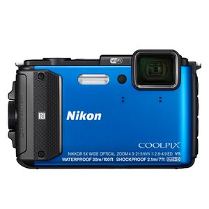Nikon Coolpix AW130 Blue Digital Camera