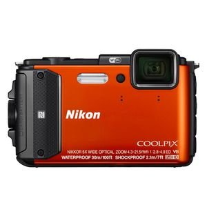 Nikon Coolpix AW130 Orange Digital Camera