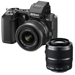 Nikon 1 V2 Black Digital Camera with 10-30mm and 30-110mm Lens Kit