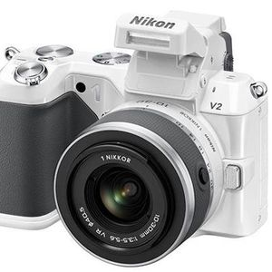 Nikon 1 V2 White Digital Camera with 10-30mm Lens Kit
