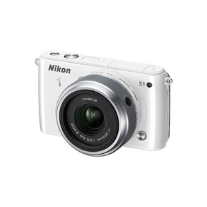 Nikon 1 S1 White Digital Camera Kit with 11-27.5mm Lens