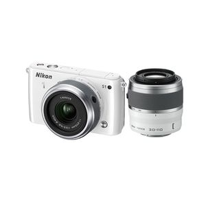 Nikon 1 S1 White Digital Camera Kit with 11-27.5mm and 30-110mm Lenses
