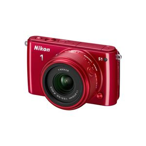 Nikon 1 S1 Red Digital Camera Kit with 11-27.5mm Lens