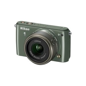 Nikon 1 S1 Khaki Digital Camera Kit with 11-27.5mm Lens