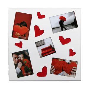 Debora Multi Aperture Heart Photo Frame for 5 Photos