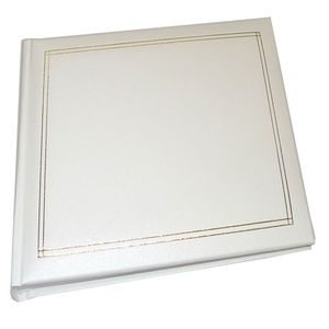Walther Monza White Traditional Photo Album - 60 Sides