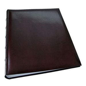 Walther Classic Large Burgundy Traditional Photo Album - 60 Sides
