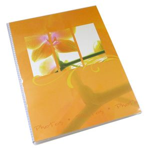 Walther Flora Orange 7x5 Slip In Photo Album - 36 Photos