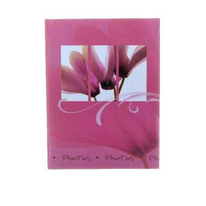 Walther Flora Pink 7x5 Slip In Photo Album - 36 Photos