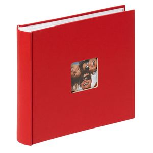 Walther Fun Red 6x4 Slip In Photo Album - 200 Photos