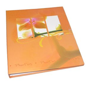 Walther Flora Orange Traditional Photo Album - 100 Sides