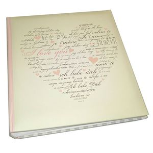 Walther Sweet Words Traditional Wedding Photo Album - 58 Sides