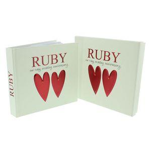 Ruby Wedding Anniversary Slip In 6x4 Photo Album