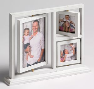 Walther Herm Wood Multi- Aperture Photo Frame For 1 7x5 2 3x3 Photos