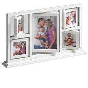 Walther Herm Wood Multi Aperture Photo Frame For 1 7x5 and 4 3x3 Photos