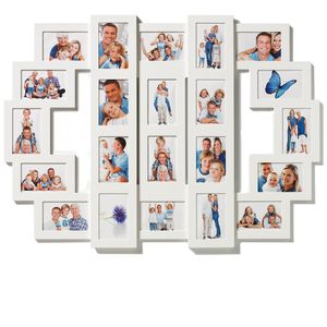 Walther Family Life White Multi Aperture Photo Frame For 22 6x4 Photos