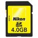 Nikon 4GB Secure Digital SDHC Memory Card