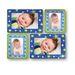 Sticky Photo Frame for 4 Photos - Blue Stars