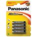 Panasonic AAA Alkaline Power Batteries - Pack of 4