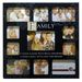 Sentiment Stamp Family Multi Aperture Black Photo Frame