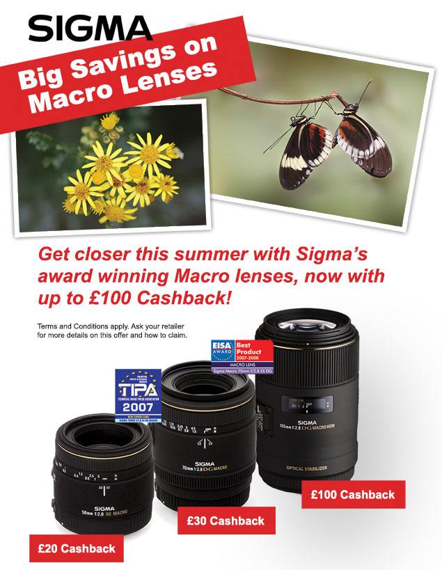 Cashback on Selected Sigma Lenses
