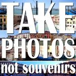 take photos not souvenirs